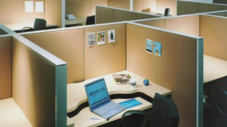 Office Workspace Small Minimalist Cubicle