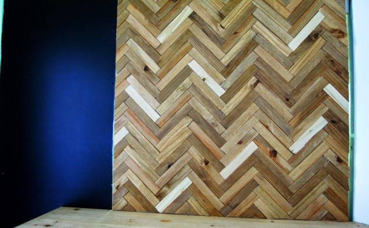 Ohlalaali Diy Herringbone Wood Wall Art