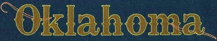 Oklahoma Fill Floss Font Jolson Designs