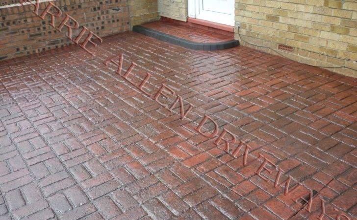Old Brick Basket Weave Pattern Block Paving Barrie Allen