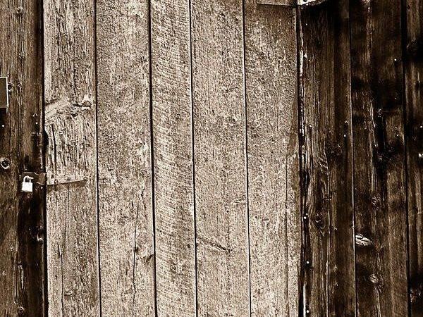 Old Doors Rustic Black White Barn Woord Door Photograph