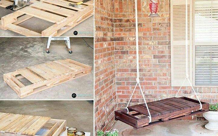 Old Pallet Bench Swing Home Sweet Pinterest