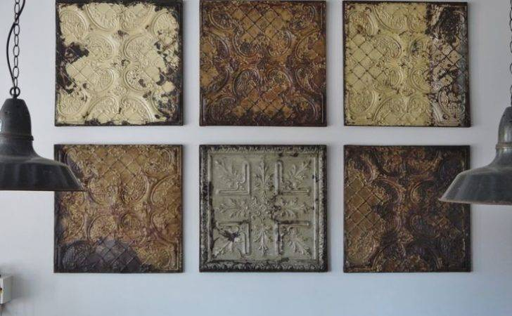 Old Pressed Tin Tiles Shabby Chic Kitchen Pinterest