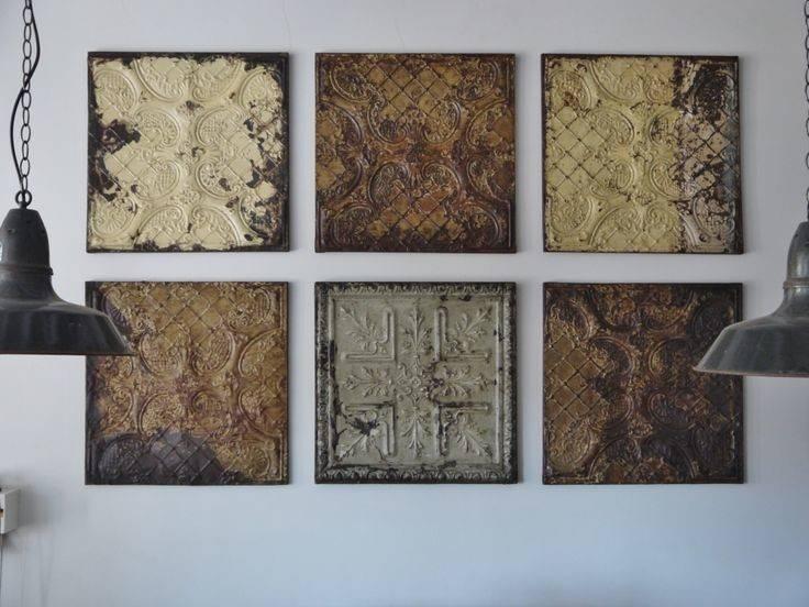 Old Pressed Tin Tiles Shabby Chic Kitchen Pinterest