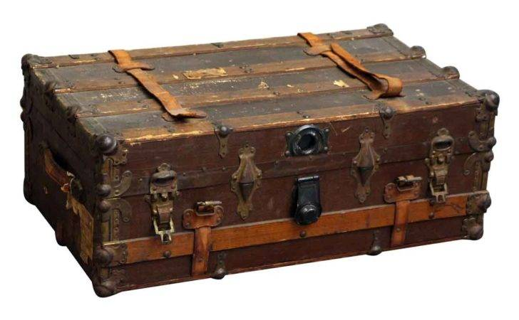Old Wooden Steamer Trunk Olde Good Things