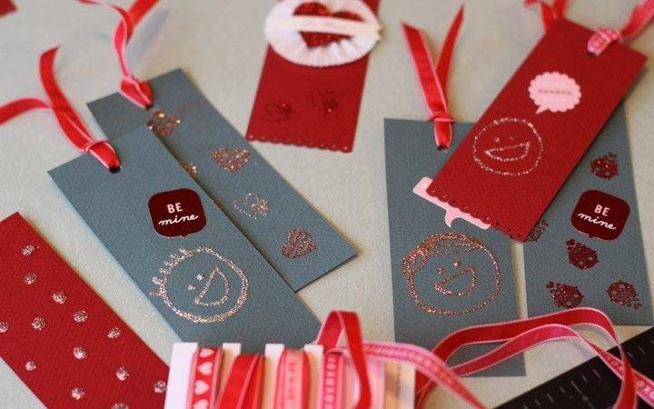 Olive Valentine Bookmarks Design Mom