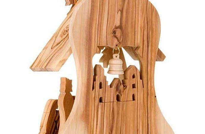 Olive Wood Crib Hut Ebay