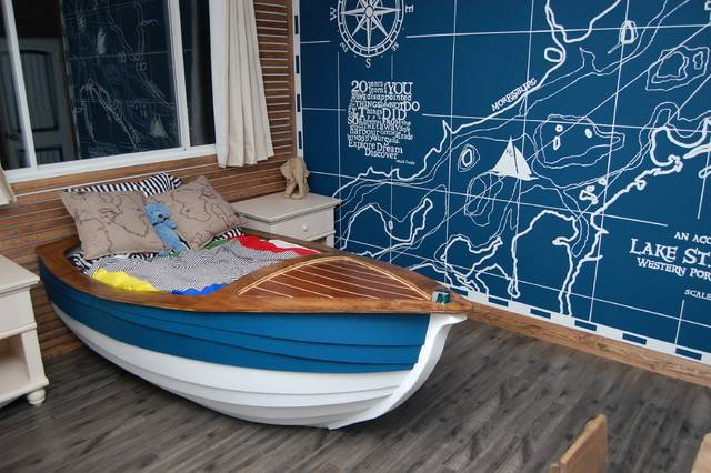 Oliver Laurins Nautical Themed Toddler Bedroom Traditional Kids