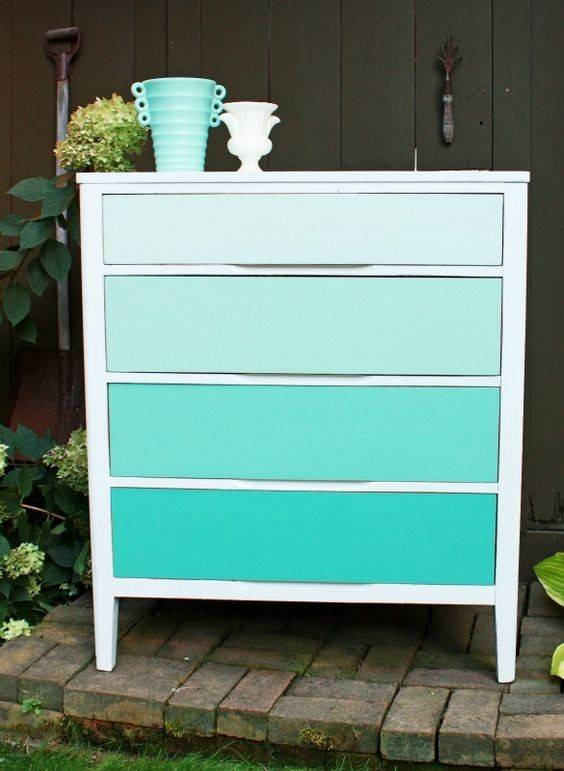 Ombre Painted Dressers Put Color Into Perspective