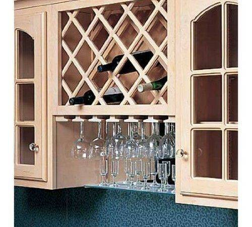 Omega National Cabinet Mount Premium Wine Lattice Bottle