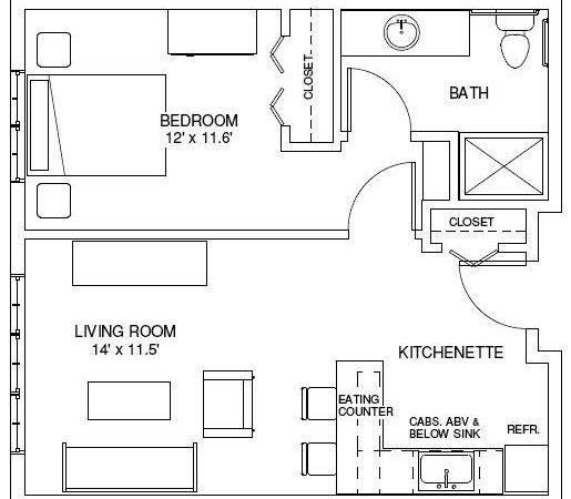 One Bedroom House Plans Floorplans Find
