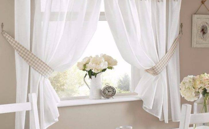 One Pair Gingham Bow Design Kitchen Curtains Inc