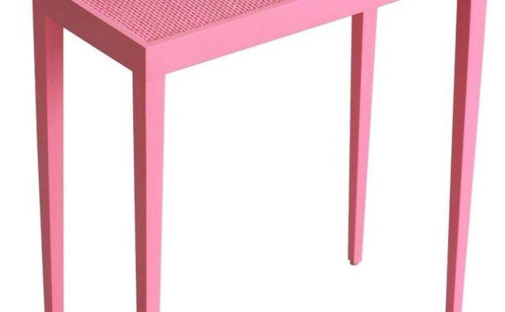Oomph Tini Table Iii Accent Eros Pink Painted Raffia