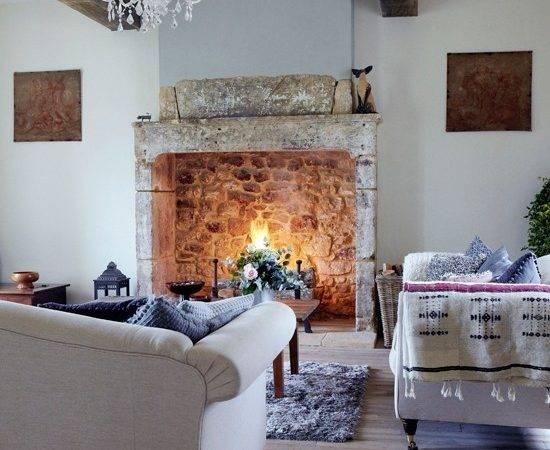Open Fire Living Room Design Fireplace Housetohome