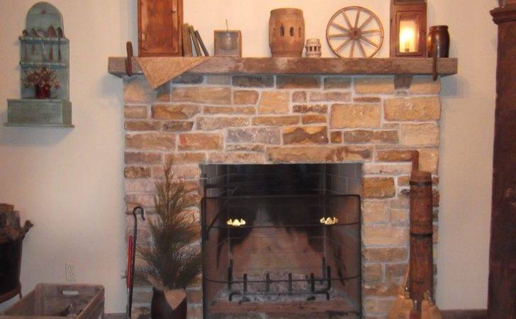 Open Hearth Stone Fireplace Love Our Home Primitive Style
