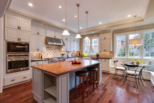 Open Kitchen Large Island Workstation Traditional