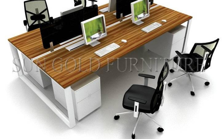 Open Plan Desk Person Seats Office Modern Table