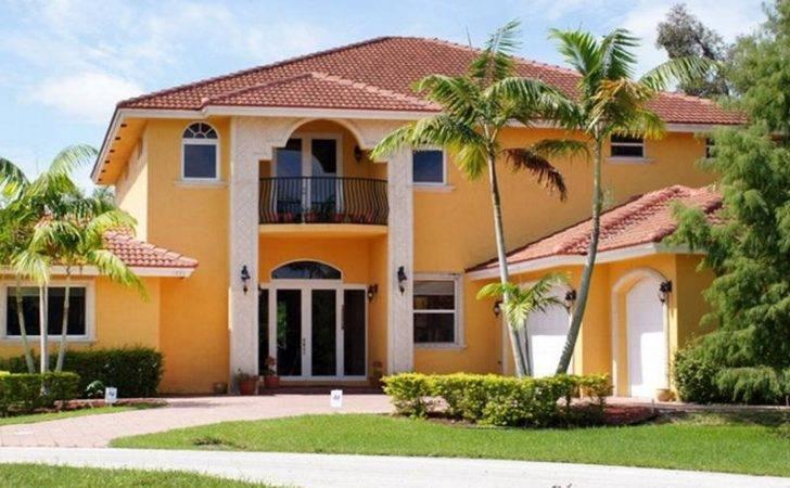 Orange Exterior Paint House Simple Ideas