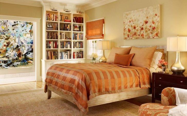 Orange Gold Master Bedroom Imbued