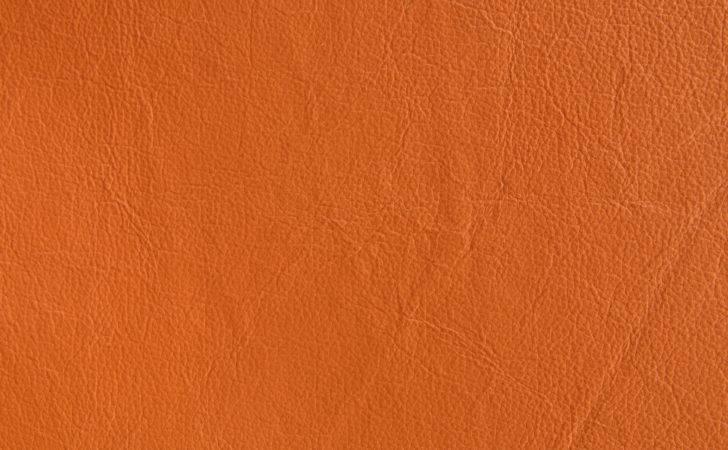 Orange Leather Texture Bright Fabric Design
