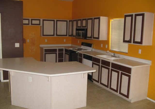 Orange Painted Kitchen Cabinets Colors