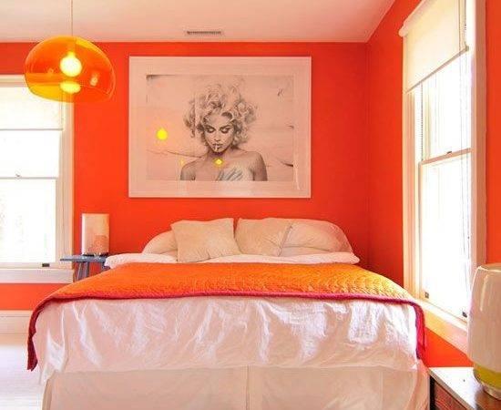 Orange Rooms Walls Bedroom Color