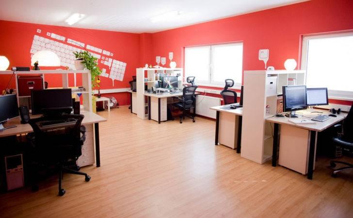 Orange Wall Keyboard Office Decorations Interior