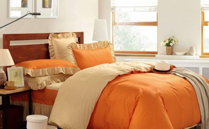 Orange Yellow Modern Bedding Cotton