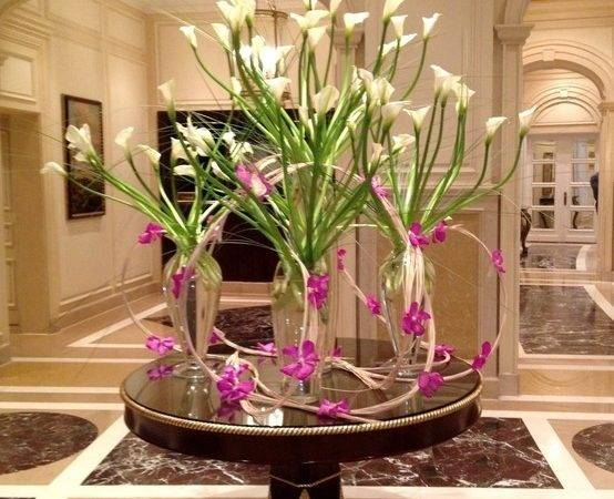 Orchids Lights Lobby Four Seasons Hotel Alexandria