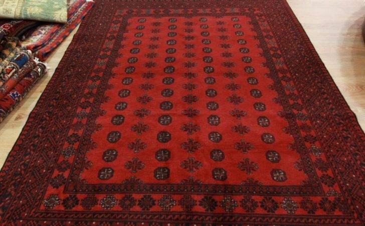Oriental Area Carpet Luxury High End Afghan Red Handmade Rugs Ebay