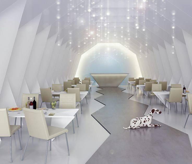 Origami Restaurant Interior Design Pinterest