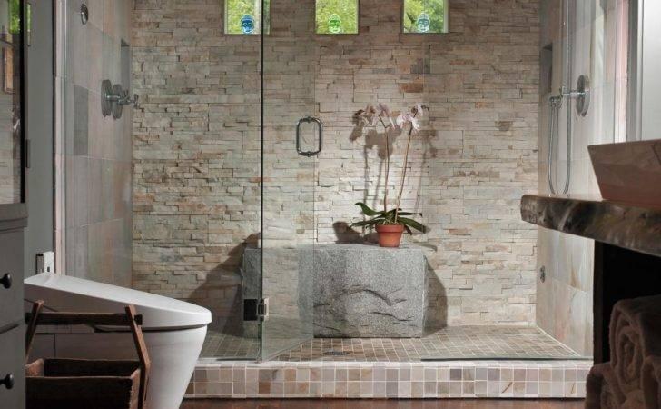 Original Jackie Dishner Luxury Showers Susan Fredman Stone Enclosure