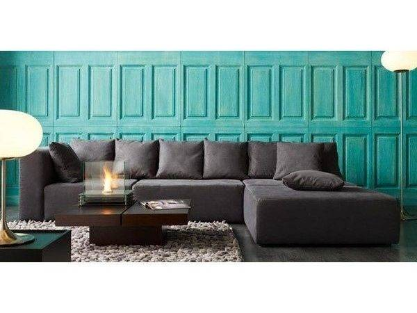 Ornament Wall Decal Grey Turquoise Living Room Design Ideas