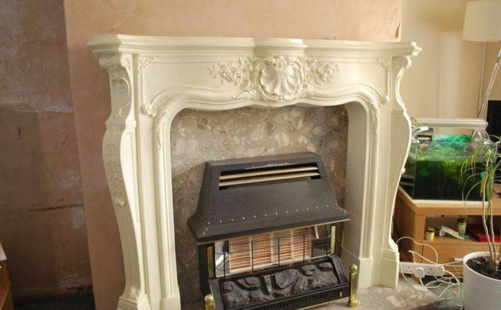 Ornate Fire Surround Stone Effect Resin Fireplace Mantel