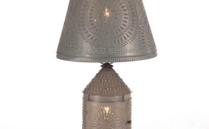 Ornate Punched Tin Lantern Lamp Candelabra Base