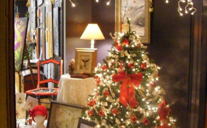 Our Christmas Window Display Artistic Treasures