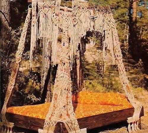 Outdoor Bed Bohemian Boho Crochet Canopy Fantastic Always