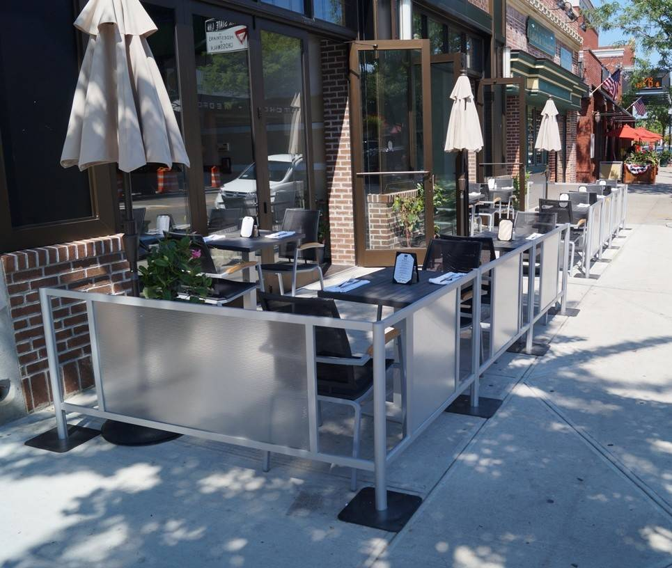 Outdoor Cafe Barriers Restaurant Fencing