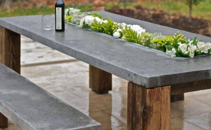 Outdoor Cor Trend Concrete Furniture Pieces Your Backyard