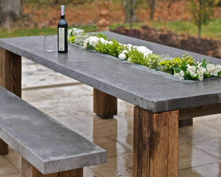 Outdoor Cor Trend Concrete Furniture Pieces Your Backyard