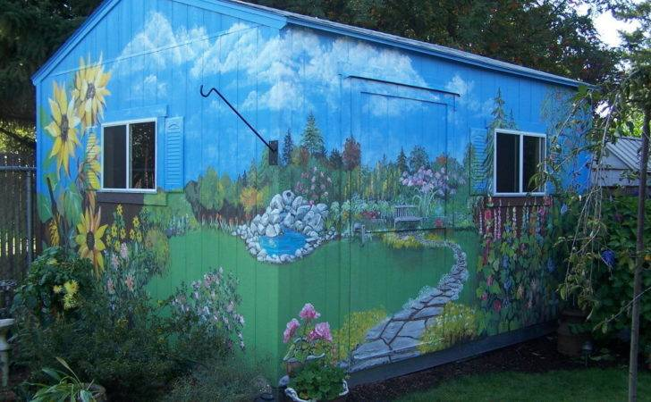 Outdoor Garden Wall Murals Ideas Photography