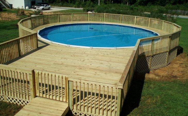 Outdoor Great Above Ground Pool Deck