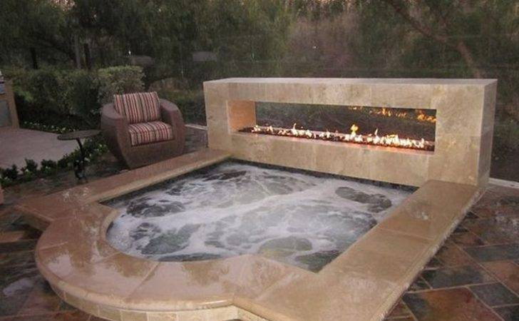 Outdoor Hot Tubs Pinterest Stone Tub Deck