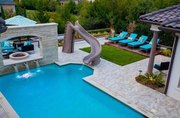 Outdoor Living Area Incorporates Custom Slide Sun Deck Divider