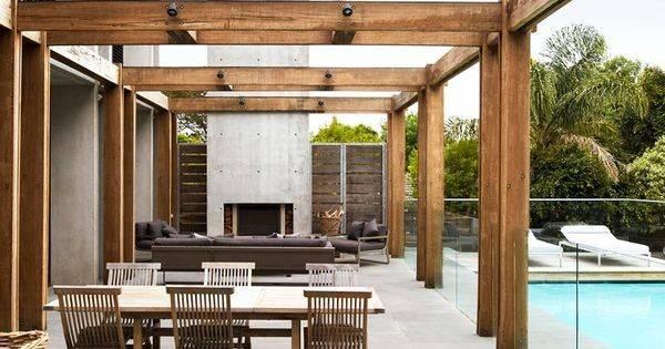 Outdoor Living Space Rob Mills Sorrento Interior Design Melbourne