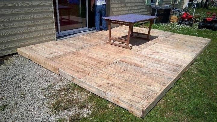Outdoor Pallet Deck Diy Patio Furniture Ideas