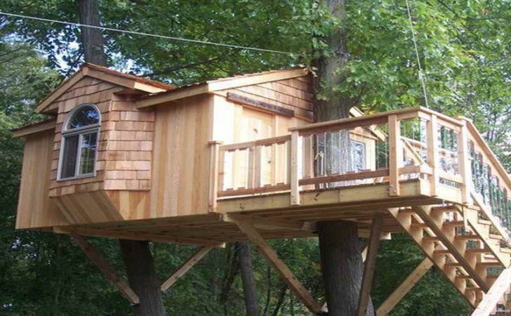 Outdoor Treehouse Plans Jangle Awesome Designs