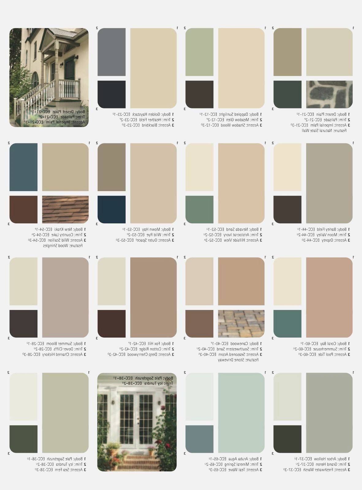 Outside House Paint Color Combinations Ideas