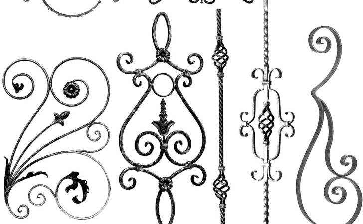 Outwater Wrought Iron Railing Gate Grille Components