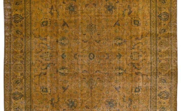 Over Dyed Persian Vintage Rug Kilim Rugs Overdyed